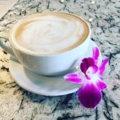 latte purple flower